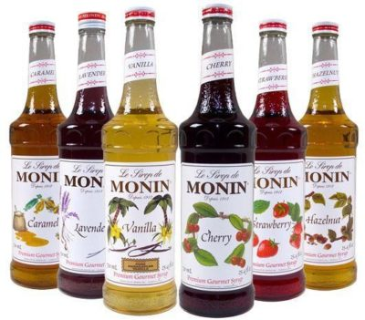 flavored coffee syrups